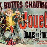 Vintage Posters - Aux Buttes Chaumont Jouets et Objets Pour Etrennes Jules Cheret French Advertising Posters. - Jules Cheret - French Advertising Posters.