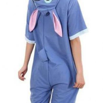 Cute Stitch Unisex One Piece Jumpsuit Sleepwear