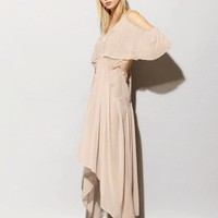 Taupe chiffon maxi dress [Sho1734] - $359.00 : Pixie Market, Fashion-Super-Market