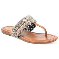 Jessica Simpson Shoes, Roelle Jeweled Thong Sandals - Shoes - Macy's
