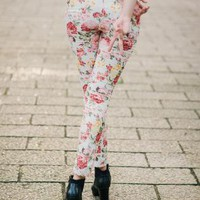 [TWC] Adora Floral Slim Fit Pants