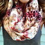 Desert Rose Ikat Infinity Scarf
