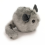 Light Grey Stuffed Toy Chinchilla Faux Fur Plushie Small Size