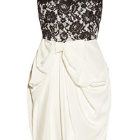 Notte by Marchesa | Silk-jersey and lace dress | NET-A-PORTER.COM