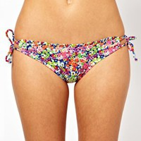 Piha Posy Frill Triangle Bikini at asos.com
