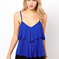ASOS Cami with Frill V Back at asos.com