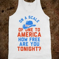 On a Scale of One To America  (Tank) - Southern Girl - Skreened T-shirts, Organic Shirts, Hoodies, Kids Tees, Baby One-Pieces and Tote Bags