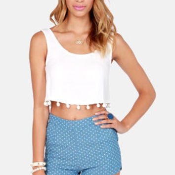 Crop Dead Gorgeous Ivory Crop Top