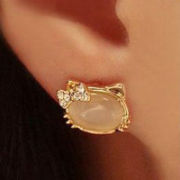 Hello Kitty Crystal Stone Earring&#x27;s from Blessed Princess