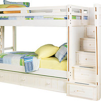 Creekside White Wash Twin Twin Step Bunk Bed