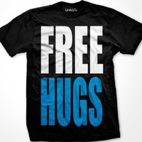 Amazon.com: FREE HUGS Mens T-shirt, Big and Bold Funny Statements Tee Shirt: Clothing