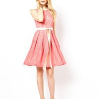 Traffic People Lace Skater Dress at asos.com