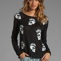 Lauren Moshi Helena Mini Skull Sweater in Black from REVOLVEclothing.com