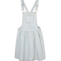 Light Blue Denim Pinafore Dress