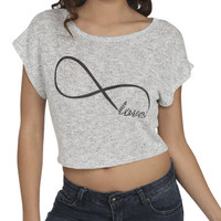 Love Infinity Crop Sweater | Shop Sale at Wet Seal
