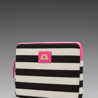 Juicy Couture Bar Stripe Neoprene iPad Case in Black from REVOLVEclothing.com