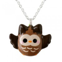 Kawaii Brown Owl Necklace