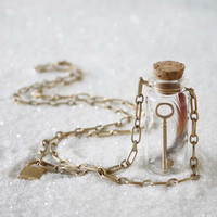 Spellbound Bottle Necklace, Women's Bohemian Jewelry