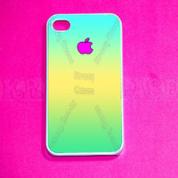 iphone 4 Case, iPhone 4s case - Teal ombre color iPhone 4 Cases, Iphone 4s Cover,Case for iPhone 4