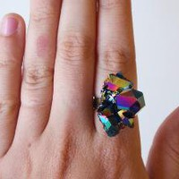 SCILIA rainbow crystal ring by brianarose on Etsy