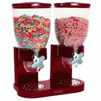 Zevro Indispensable Dispenser Double Canister Dry Food Dispensers