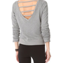 So Low V Back Pullover with Thumbholes | SHOPBOP