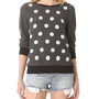 Wildfox Polka Dot Baggy Beach Sweatshirt | SHOPBOP
