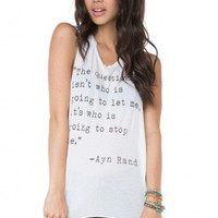 Brandy ♥ Melville |  Ayn Rand Tank - Clothing