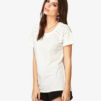 Rhinestone-Accented Tee