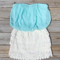 Laced Aura Dress in Mint