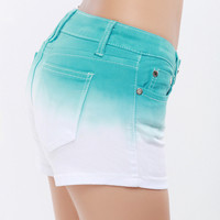 SakuraShop — Gradient Color Denim Shorts