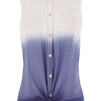Dip Dye Tie Front Shirt