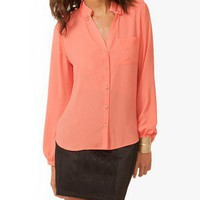 Epaulette Chiffon Shirt