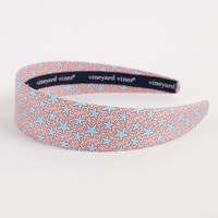 Women's Accessories: Starfish Patterned Silk Headband