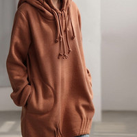 Autumn hood loose long sleeved Coat