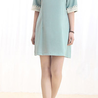 lovely doll collar Half Sleeve Chiffon Dress