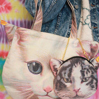 CAT TOTE + SMALL TOTE from Brave Store