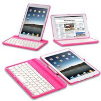 Amazon.com: Exact 360 Degree Rotation Bluetooth Keyboard with Aluminum Shelf for IPAD MINI Pink: Computers & Accessories