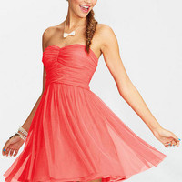 Coral Mesh Party Dress