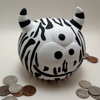 Zane the Zebra-Striped Monster Bank