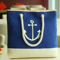 waloli shopping mall — Cute Blue Anchor Bag