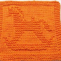 Knitting Cloth Pattern Rocking Horse PDF by ezcareknits on Zibbet