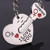 fancybuy — cute lovers with smile key chain