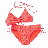 Hang Ten Crochet 2-pc. Halter Bikini Swimsuit Set - Girls 7-16