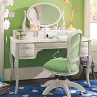 Lilac Desk &amp;amp; Vanity Mirror Hutch