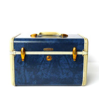 1950s Samsonite Blue Marbled Train Case by marybethhale on Etsy