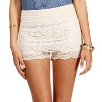 Natural Crochet Shorts