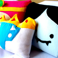 Three Adventure Time Pillows - 2 Large, 1 Medium (you pick characters)