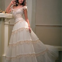 A Line Off-The-Shoulder Strap Papilio Wedding Dress PWD094 -Shop offer 2013 wedding dresses,prom dresses,party dresses for girls on sale. #Category#