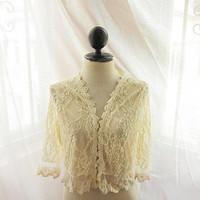 Medieval Angel French Cream Romantic Fairy Lace Jacket Nutcracker Angelic Dreamy Ethereal Ballerina Delicate Rose Parisian Boudoir Tunic